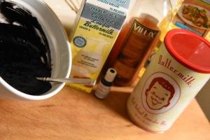 ingredients to make waffles