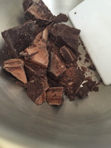 Chopped chocolate chocolate