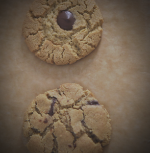 Two Cookie test batch.  Texture not quite where I want it but delicious, so I proceed...