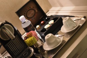 coffee station in room..