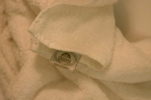 the towels.. fluffiest white towels ever..